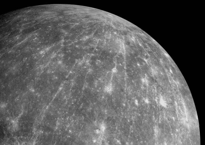 Mercury shrinking.